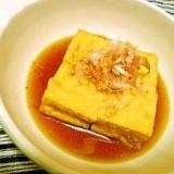 レンジで簡単☆厚揚げでなんちゃって揚げ出し豆腐♪