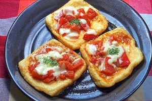 超簡単! 油揚げでピザ