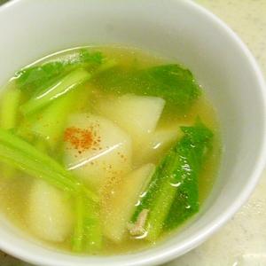 かぶとひき肉の和風スープ