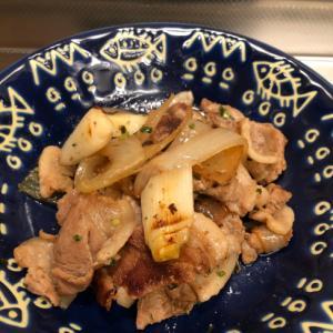 ネギづくし♪3種のネギと豚肉の生姜焼き^_^