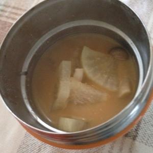 スープジャーで大根と揚げの味噌汁