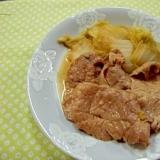 白菜と豚肉のすき焼き風