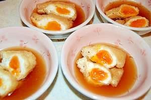 あともう一品!半熟卵の巾着煮