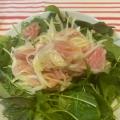 生ハムマリネとベビーリーフのサラダ