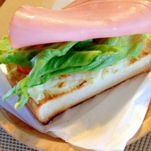 オープンサンド☆ハム&チーズ