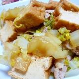 豚、白菜、厚揚げの甘辛煮