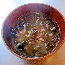 海藻味噌汁