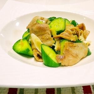 豚肉ときゅうりのオイマヨ炒め