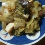 さば缶と白菜と厚揚げの煮物