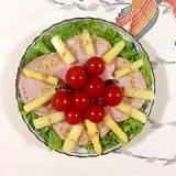 ロースハムとホワイトアスパラのサラダ