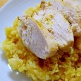 ♡お肉の脂でウマウマ~♡炊飯器deカレーピラフ♡