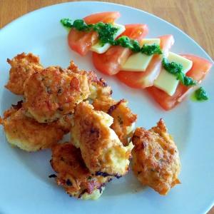 簡単♪鶏むね肉の豆腐チキンナゲット♪