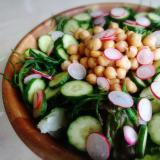 ひよこ豆とおかひじきのサラダ