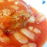 豚ももかたまりと白インゲン豆 トマトピューレ煮込み