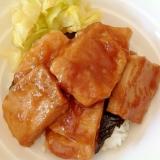 冷凍豆腐の蒲焼風丼