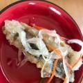カラーピーマンと小松菜で☆塩サバの美味しい南蛮漬け