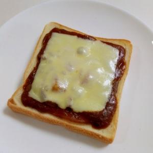 朝食に☆チーズビーフシチュートースト