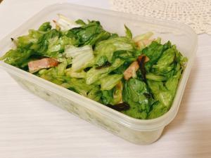 糖質制限 生レタスとハムの作り置きサラダ