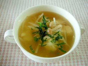 ☆豆腐ともやしとしめじのスープ☆