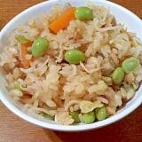 魚の煮つけ・煮汁で簡単♪ 炊き込みごはん 椎茸の軸
