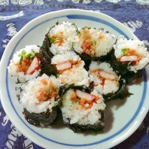 カニカマと鮭の韓国風中巻き寿司