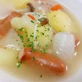 ほくほく~❤新じゃが・新たまねぎの簡単中華スープ