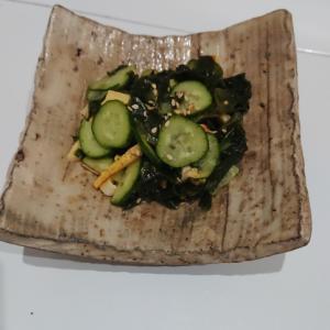 時短副菜!カンタン酢できゅうりとワカメの簡単酢の物