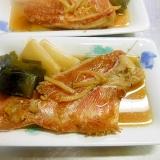 赤魚とネギのめんつゆ煮