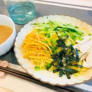 ★ランチ★ざるラーメン(きゅうり&卵&チキンのせ)