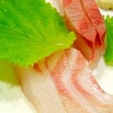 お~旨いプリプリカンパチの刺身とあま~い鯛
