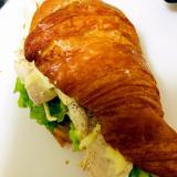 鶏ハムのクロワッサンサンド