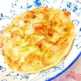 ❤長葱とカニかまのチビお好み焼き❤