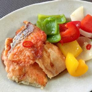 初夏☆鮭とカラフル夏野菜の南蛮漬け