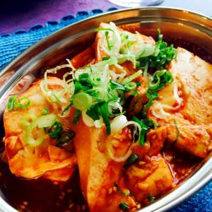 辛さがやみつき♩辛煮豆腐