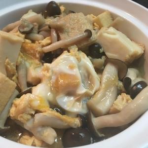 厚揚げ豆腐の卵とじ