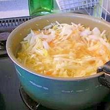 千切り野菜のスープ