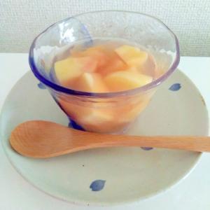 桃の白ワインコンポートゼリー