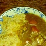 レンズ豆と根菜の ベジカレーライス♪