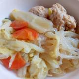 レンコンの鶏つみれの煮物