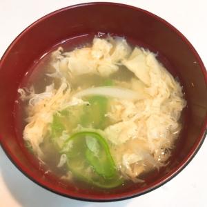 旬の甘とうがらしで☆簡単中華卵スープ