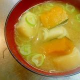 かぼちゃと豆麩の味噌汁