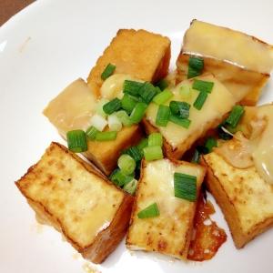 昆布つゆで☆厚揚げのチーズ焼き
