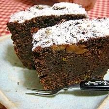 ドライフルーツたっぷり☆おからとキャロブのケーキ