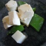 スナップエンドウとクリームチーズの和え物