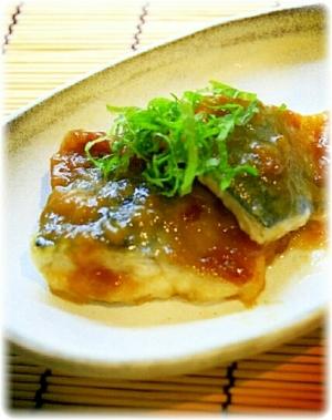 鯖の梅肉照り焼き