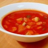 ズッキーニでトマトスープ