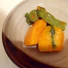かぼちゃとしし唐の簡単煮