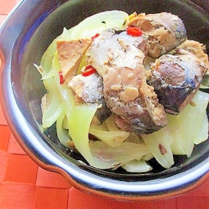 簡単!玉ねぎと鯖の水煮の酢煮