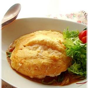 フライパンで作るインドカリーdeオムカレー