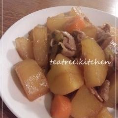 ごはんがすすむ★豚肉と大根の煮物